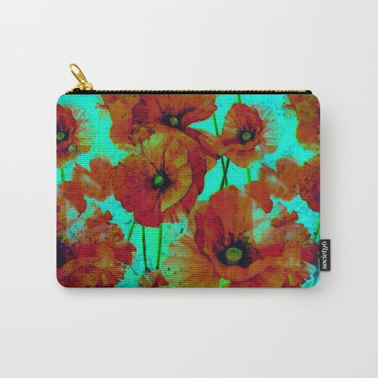 marsala floral Carry-All Pouch