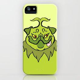Christmas Nostalgia - Grinch Pug iPhone Case