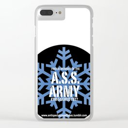 the ass army logo Clear iPhone Case