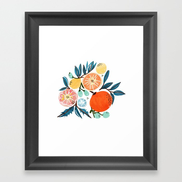 Fruit Shower Framed Art Print