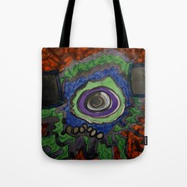 Paradise within blazing Flames Tote Bag