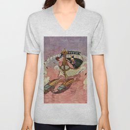 Nutcracker and The Mouse King by Artus Schneider Unisex V-Neck