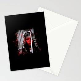 Michonne The Walking Dead Start to Finish Stationery Cards