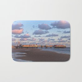 Blackpool Central Pier Sunset Bath Mat
