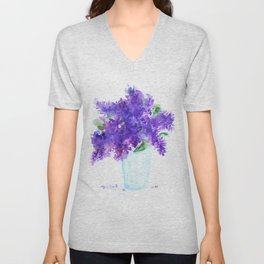 Lilac in a glass Unisex V-Neck