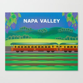 Napa Valley, California - Skyline Illustration by Loose Petals Canvas Print