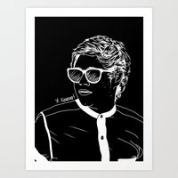 niall Art Prints featuring Niall by andjustlove