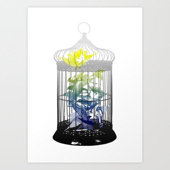 Green Finches Art Print