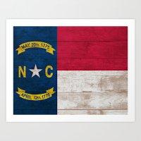 north carolina Art Prints featuring North Carolina by C Liza B