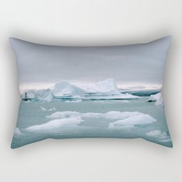 ICELAND WITH ICEBERGS IS INCREDIBLE ICY Rectangular Pillow