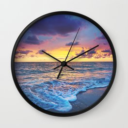 Sunset Foam Wall Clock