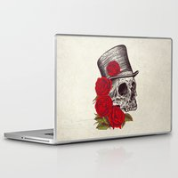 gentleman Laptop & iPad Skins featuring Dead Gentleman by Rachel Caldwell