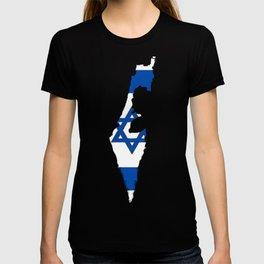 Israel Map with Israeli Flag T-shirt