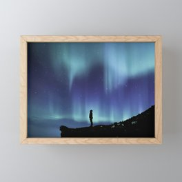 Northern Lights | Aurora Borealis Framed Mini Art Print