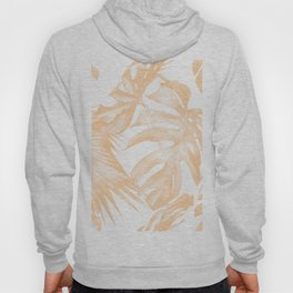 Island Vacation Hibiscus Palm Coral Hoody