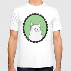 Kitty SMALL Mens Fitted Tee White