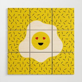 Eggs emoji Wood Wall Art