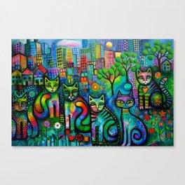 Metropolitan Cats Canvas Print