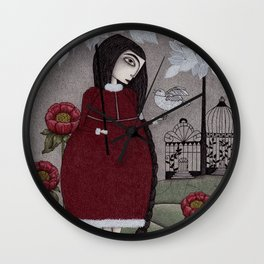 Winterbird, or Hope is a Thing With Feathers Wall Clock