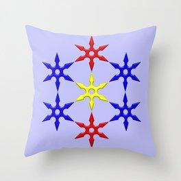Shuriken Design Throw Pillow