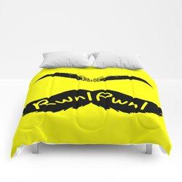 RwnlPwnl Mustache Comforters