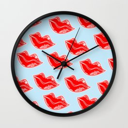 """V"" Pouty Wall Clock"