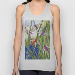 Dragonfly Summer Unisex Tank Top