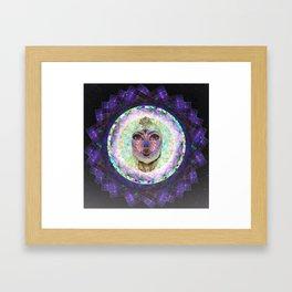 Purple Lady Framed Art Print