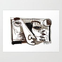Silver Look Art Print