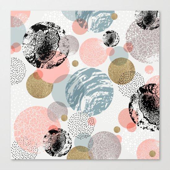 Circles texture Canvas Print