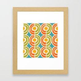 Mid Century Modern Solar Flares Pattern 2 Framed Art Print