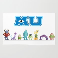 Pixel Monsters University Rug