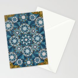 blue geometry  Stationery Cards