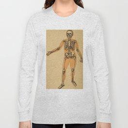 Vintage Human Skeleton Illustration (1887) Long Sleeve T-shirt