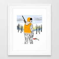 hunter Framed Art Prints featuring Hunter by Mike Force