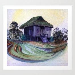 Nipa Hut by Maureen Donovan Art Print