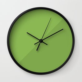 Greenery in Shadow Wall Clock