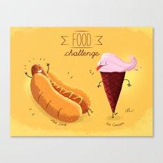 Food Challenge Canvas Print