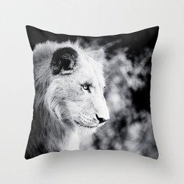 Seated Lion Throw Pillow