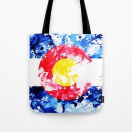 Colorado Watercolor Flag Tote Bag