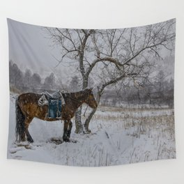 Winter Horse III Wall Tapestry