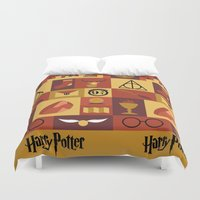 potter Duvet Covers featuring Potter by Polvo