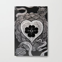 The Silver String. LUCKY LOVE. Metal Print