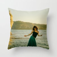 portugal Throw Pillows featuring Dance Portugal by Sébastien BOUVIER