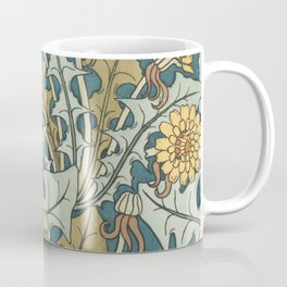 Art Nouveau Dandelion Pattern Coffee Mug