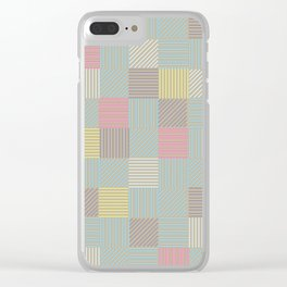 CMYK Patchwork Clear iPhone Case