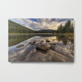 Trillium Reflection Metal Print