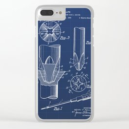 Screwdriver Vintage Patent Hand Drawing Clear iPhone Case