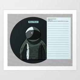 Moon Wreak Files Art Print