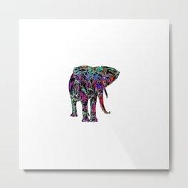 Minimal Abstract Elephant Metal Print